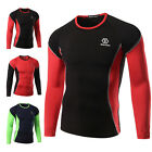 Newly Mens Compression Thermal Base Layer Top Long Sleeve GYM Sports T-shirts