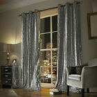 Iliana Curtains by Kylie Minogue, Silver Grey Velvet curtains, 66 & 90 inch w...