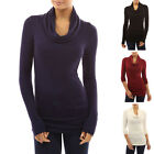 MTN Womens High Turtle Neck Long Sleeve Pullover Slim Jumper Tops Blouse Shirts