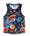 New Six Bunnies Toddler Rockabilly Retro Space Boy T Shirts Tank Top Rocket