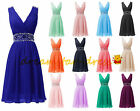 New Stock Short Prom Dresses Formal Wedding Bridesmaid Party Ball Gown Size 6-20
