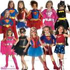 GIRLS SUPERHERO BOOK WEEK HALLOWEEN CHILDS KIDS FANCY DRESS COSTUME OUTFIT