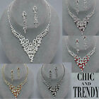 CLEARANCE VERY POPULAR CRYSTAL WEDDING FORMAL NECKLACE JEWELRY SET