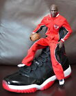 1/6 scale red white WARM UP SUIT CHICAGO BULLS Michael Jordan doll action figure