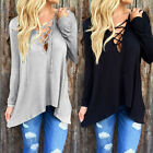 Women's Loose Long Sleeve Cotton Casual Blouse Shirt Tops Fashion Blouse New vf