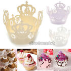 25pcs Set Crown Cupcake Wrappers Wraps Wedding Party Favor Baby Shower Decor