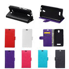 6 Colors Leather Folio Flip stand Cover Case For HTC Mobile Phones 01