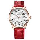 WEIQIN Women's Magnifying Glass Date PU Leather Strap Casual Quartz Wristwatches