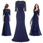 New Mother of bride LACE Long Formal Party Evening Gown Guest Dress Prom Gown