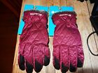 NWT Columbia Ladies Maroon faux fur lined gloves Xl/TG or L