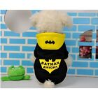 Pet Dog Hoodie Batman Knight Costume Winter Warm Coat Clothes Funny Batman Coat