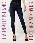ex - River Island Dark Wash Blue Amelie Jeans RRP £40.00 (FACTORY SECONDS)