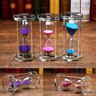 Crystal Acrylic Frame Sand Sandglass Glass Hourglass Timer Clock Home Decor Gift