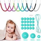 BPA-Free Food Grade Silicone Baby Teething DIY Necklaces Chewing Beads Chain