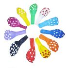 "Внешний вид - 1 to 250pc 12"" 11 Color Polka Dot Latex Balloons Party Holiday Decoration Helium"