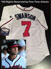 New Dansby Swanson Atlanta Braves 7 Mens Home White Onfield Jersey