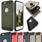 Shockproof Rubber Hybrid Protective Brushed Hard Case Back Cover For iPhone 4 4s