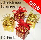 12 CHRISTMAS LED TEA LIGHT TEALIGHT CANDLE HOLDER LANTERNS XMAS DECORATION SANTA
