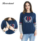 New Maternity Clothes Long Sleeve British style Breastfeeding Nursing Tops