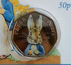 PETER RABBIT COLOURISED GOLD PLATED IN CAPSULE,  PRESENTATION BOX