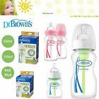 Dr Brown's Options Bottles Baby Feeding Wide Anti Colic 150ml 270ml Red or Blue