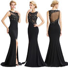 Formal Beaded Long Gown Party Prom Cocktail Wedding Bridesmaid EVENING Dress New