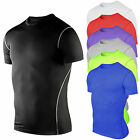 Mens Compression Sports Apparel Under Base Layer Top Short Sleeve T-Shirt Shorts