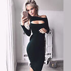 Women Sexy Bodycon Bandage Off Shoulder Evening Cocktail Party Pencil Dress S-L