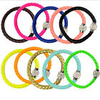 1 Pc Simple Women Jewelry Rhinestone Buckle Wristband Cuff Leather Wrap Bracelet