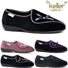LADIES WOMENS DIABETIC ORTHOPAEDIC EASY CLOSE WIDE FITTING STRAP SLIPPERS SHOES