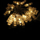 2.2M 20 LED Transparent Photo Clip String Lights for Party Wedding Gallery Decor