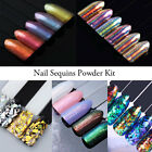Nail Art Glitter Powder Dust Sheets Tips UV Gel Acrylic 3D Manicure Decorations