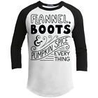 Flannel, Boots, & Pumpkin Spice Everything Raglan Tee For Her