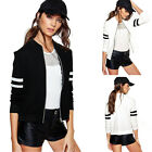 Fashion Womens Zipper Korean Style Outwear Coat Baseball Uniform Sports Jacket