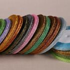 25 Yards 6mm glitter ribbon gift packing belt wedding party embellishment ribbon
