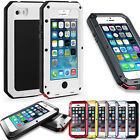 Waterproof Shockproof Metal Glass Case Cover For Apple iPhone 6/6S/6Plus/ 7