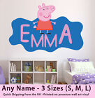 Childrens Name Wall Stickers Art Personalised Peppa Pig for Girls Boys Bedroom