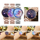 1pc Universe Starry Sky Pattern Rhinestone Wristband Alloy Quartz Analogue Watch
