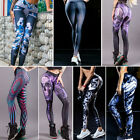 Women High Waist Leggings Yoga Sport 3D Floral Print Fitness Elastic Leggings