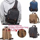 Men's Canvas Satchel Military Cross Body Handbag Messenger Shoulder Bag Backpack