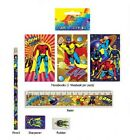 5 piece Super Hero Stationery Set, party loot bag filler gift