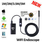 8mm Lens Wireless Wifi Iphone Android USB Endoscope Camera HD 720P 5M 3.5M 2M 1M