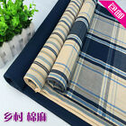 Thickening Sofa Plaid Stripe Table Cloth Linen Cushion Pillow Cover Fabric