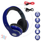 Foldable 4.2 Headset Call Built-In Mic FM Wireless Stereo Blue Headphone S247