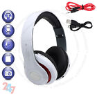 Foldable Wireless Bluetooth Headset Stereo White Headphone Built-In Radio S247