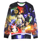 3D Men's Round Neck Sweater Tracksuit Sportwear Long Sleeved Star Wars Outfit