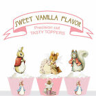 Peter Rabbit Garden Party animal birthday party Cupcake Toppers cup cake