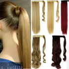 Real Thick Hair Wrap Around Ponytail Hair Piece Clip In Pony Tail Fake Hair HG71