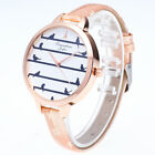 Fashion New  Leather Women Quartz Stainless Steel Analog Wrist Watch Bracelet