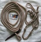 Brown & Beige Zig Zag Rope Halter with 12ft Lead with Loop by Natural Equipment